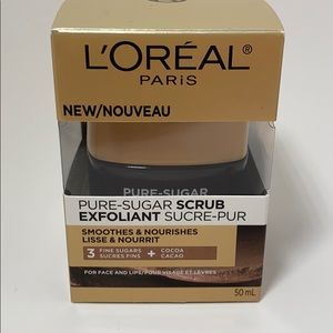 L'Oréal pure sugar scrub for face and lips